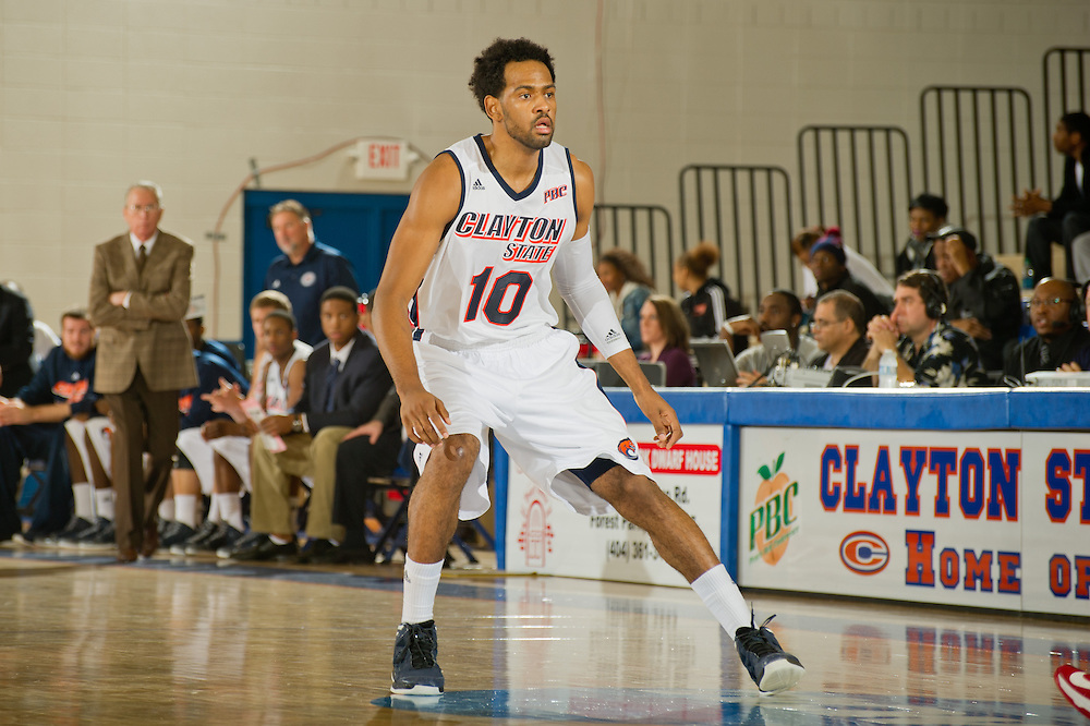 Dec. 17, 2012; Morrow, GA, USA; Clayton State men's basketball player Omari Murray during the game against Columbus State at CSU. Photo by Kevin Liles/kdlphoto.com