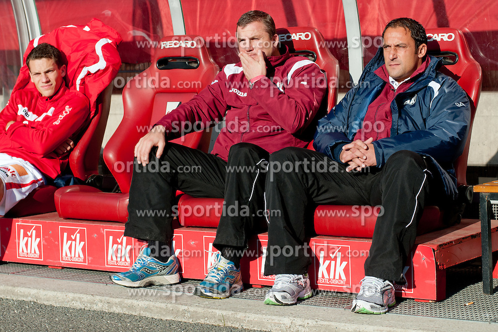 Ales Ceh, head coach of GAK, and assistant coach Herfried Sabitzer during of football match between Grazer AK - SV Tondach Gleinstätten in Regionalliga, on October 15, 2011 at UPC Arena, Graz, Austria. (Photo By Matic Klansek Velej / Sportida)