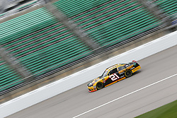 October 19, 2018 - Kansas City, Kansas, United States of America - Daniel Hemric (21) takes to the track to practice for the Kansas Lottery 300 at Kansas Speedway in Kansas City, Kansas. (Credit Image: © Justin R. Noe Asp Inc/ASP via ZUMA Wire)