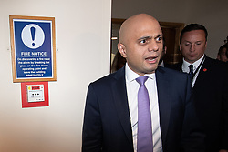 © Licensed to London News Pictures . 02/10/2018. Birmingham, UK. SAJID JAVID at the conference on day 3 of the Conservative Party conference at the ICC in Birmingham . Photo credit: Joel Goodman/LNP