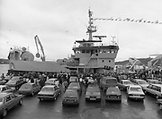 "Supertrawler arrives at Killybegs..1986..17.05.1986..05.17.1986..17th May 1986..""Atlantic Challenge"" the new IR£6million supertrawler,the flag ship of the Irish fishing fleet arrived at Killybegs today. The vessel was built for Killybegs' Enterprises in Bergen,Norway. Killybegs' Enterprises also have ""Western Viking"".""Jasper Sea"" and""Silver King""supertrawlers in their fleet..The vessel will be skippered by Mr Martin Howley who originally trained with B.I.M.s National Fishery Training Centre, Greencastle..The company plans to fish for non-quota stocks such as Blue Whiting and Horse Mackerel,her fishing pattern will lessen dependence on mackerel as quotas are low for the Irish fleet...Image shows the hordes of wellwishers on the quayside as the ""Atlantic Challenge"" docks against the harbour wall."
