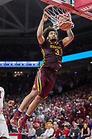 FAYETTEVILLE, AR - DECEMBER 9:  Jordan Murphy #3 of the Minnesota Golden Gophers goes up for a dunk during a game against the Arkansas Razorbacks at Bud Walton Arena on December 9, 2017 in Fayetteville, Arkansas.  The Razorbacks defeated the Golden Gophers 95-79.  (Photo by Wesley Hitt/Getty Images) *** Local Caption *** Jordan Murphy