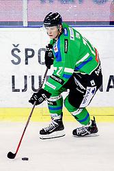 Kristjan Cepon of Olimpija during ice-hockey match between HDD Telemach Olimpija and EV Vienna Capitals in EBEL league, on January 15, 2016 at Hala Tivoli, Ljubljana, Slovenia. Photo by Morgan Kristan / Sportida
