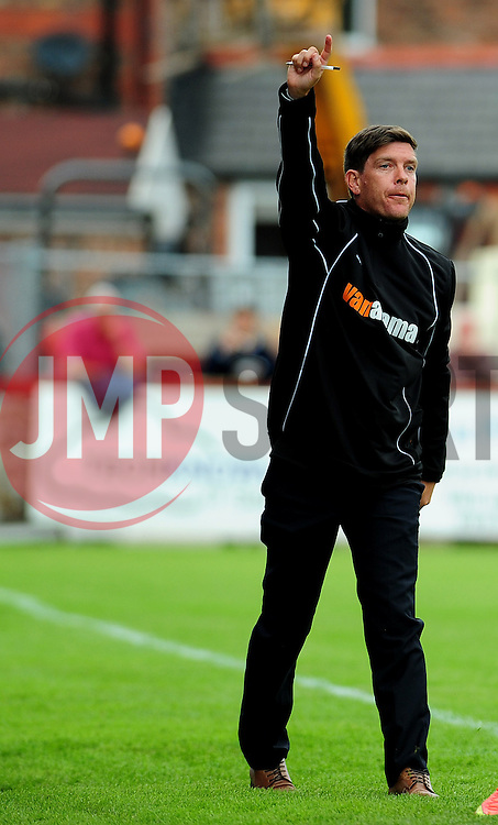 Bristol Rovers Manager, Darrell Clarke - Photo mandatory by-line: Neil Brookman - Mobile: 07966 386802 16/08/2014 - SPORT - FOOTBALL - Altrincham - J. Davidson Stadium - Altrincham v Bristol Rovers - Vanarama Conference Football