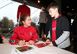 Kit Graham signs autographs in the club shop