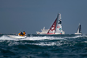 Imoca Initiatives Coeur (Sam Davies) during the Route du Rhum 2018 race start in Saint Malo, France, on November 4th, 2018 - Photo Olivier Blanchet / ProSportsImages / DPPI