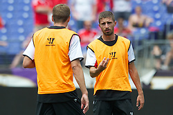 BALTIMORE, MD - Friday, July 27, 2012: Liverpool's Fabio Borini during a training session ahead of the pre-season friendly match against Tottenham Hotspur at the M&T Bank Stadium. (Pic by David Rawcliffe/Propaganda)