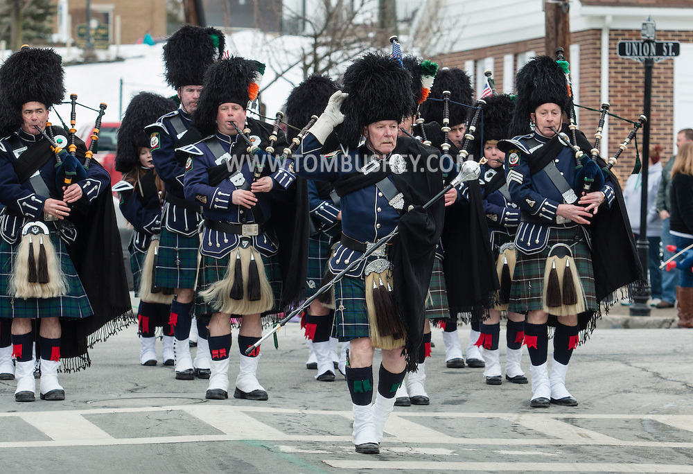 Montgomery, New York - People watch the Village of Montgomery St. Patrick's Parde on March 21, 2015.
