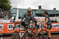 Danielle King of Wiggle Honda after the sign-on at the Holland Ladies Tour, Zeddam, Gelderland, The Netherlands, 1 September 2015.<br /> Photo: Pim Nijland / PelotonPhotos.com