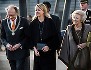 ENSCHEDE - Princess Beatrix and Princess Mabel attend the 1st award ceremony of the Prince Friso Engineers award of the Engineer of the Year at the university of Twente, The Netherlands, 18 March 2015. The award is for engineers who excel in innovation capacity, entrepre . COPYRIGHT ROBIN UTRECHT