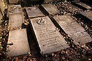Europa, Deutschland, Koeln, Grabplatten auf dem Melatenfriedhof<br /><br />Europe, Germany, Cologne, tomb slabs at the Melaten cemetery.