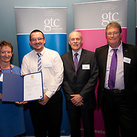 Images from the 2014 GTSC Probabtion Event Pictured are Jackie Brock (Chief Executive of Children First), Robert Stewart (North Lanarkshire),,Ken Muir (Chief Executive GTCS) and Derek Thompson (Convener GTCS). Thursday 12th June 2014.
