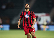 THESSALONIKI, GREKLAND - AUGUSTI 17: Saman Ghoddos of Oestersunds FK deppar under UEFA Europa League Qualifying Play-Offs round first leg match mellan PAOK Saloniki och &Ouml;stersunds FK p&aring; Toumba Stadium, August 17, 2017 i Thessaloniki, Grekland. Foto: Nils Petter Nilsson/Ombrello<br /> ***BETALBILD***