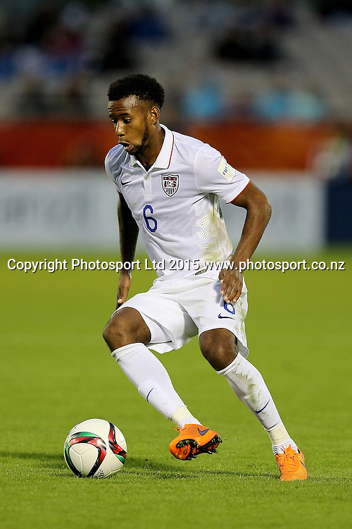 Kellyn Perry-Acosta of USA in the Group A FIFA U20 World Cup Match between USA and Myanmar at Northlands Event Centre, Whangarei, Northland, New Zealand, Saturday, May 30, 2015. Copyright photo: David Rowland / www.photosport.co.nz