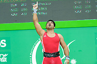 Ashgabat 2017 - 5th Asian Indoor & MartialArts Games 24-09-2017. Weightlifting mens 105kg - Ali Hashemi (IRI) competes in clean and jerk