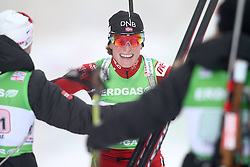 11.12.2011, Biathlonzentrum, Hochfilzen, AUT, E.ON IBU Weltcup, 2. Biathlon, Hochfilzen, Staffel Damen, im Bild Berger Tora (Team NOR) wird von Ihren Teammitgliedern empfangen // during Team Relay E.ON IBU World Cup 2th Biathlon, Hochfilzen, Austria on 2011/12/11. EXPA Pictures © 2011. EXPA Pictures © 2011, PhotoCredit: EXPA/ nph/ Straubmeier..***** ATTENTION - OUT OF GER, CRO *****