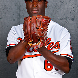 February 26, 2011; Sarasota, FL, USA; Baltimore Orioles pitcher Wynn Pelzer (66) poses during photo day at Ed Smith Stadium.  Mandatory Credit: Derick E. Hingle