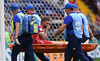 FUSSBALL WM 2018  Vorrunde  Gruppe G  ----- Belgien - Tunesien       23.06.2018 Syam Ben Youssef (Tunesien) laesst sich verletzt vom Platz tragen