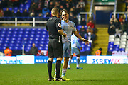 Callum O'Hare of Coventry City (17) is shown a yellow card during the EFL Sky Bet League 1 match between Coventry City and Rotherham United at the Trillion Trophy Stadium, Birmingham, England on 25 February 2020.