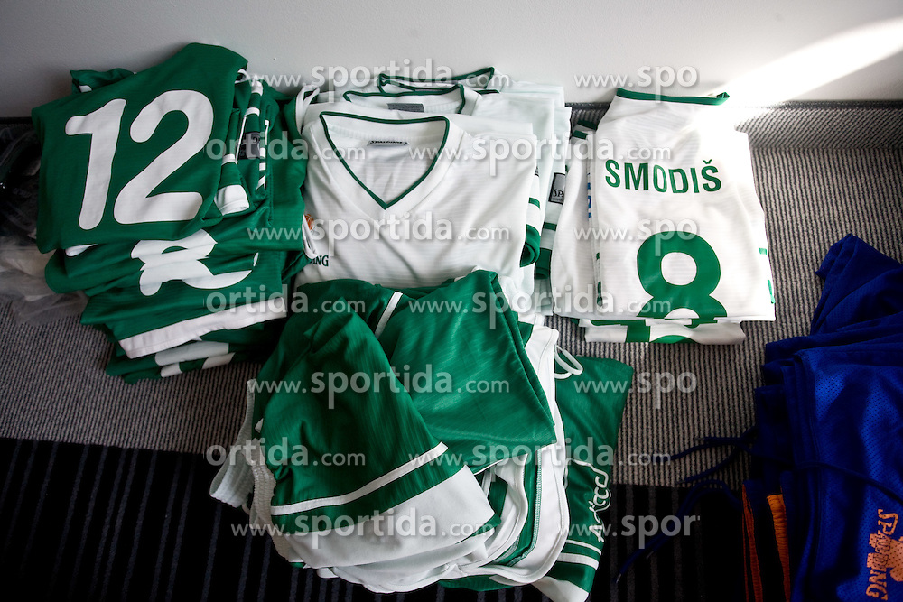 Jersey of Matjaz Smodis (8) of Slovenia in a Andel's Hotel during Eurobasket 2009, on September 15, 2009 in  Lodz, Poland.  (Photo by Vid Ponikvar / Sportida)