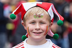 LILLE, FRANCE - Friday, July 1, 2016: A Wales fan in the centre of Lille ahead of the UEFA Euro 2016 Championship Quarter-Final match against Belgium at the Stade Pierre Mauroy. (Pic by Paul Greenwood/Propaganda)