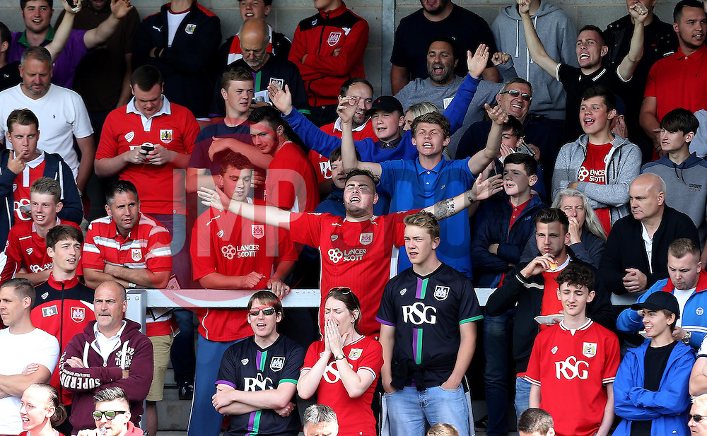 Bristol City fans at Burton Albion - Mandatory by-line: Robbie Stephenson/JMP - 13/08/2016 - FOOTBALL - Pirelli Stadium - Burton upon Trent, England - Burton Albion v Bristol City - Sky Bet Championship