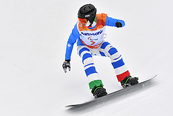 LUCHINI Jacopo ITA competing in ParaSnowboard, Snowboard Banked Slalom at  the PyeongChang2018 Winter Paralympic Games, South Korea.