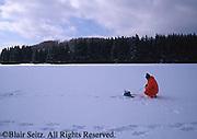 Ice fishing, Hills Creek State Park, Wellsboro, PA