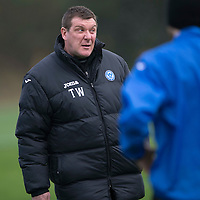 St Johnstone Training....21.11.14<br /> Manager Tommy Wright during training this morning ahead of tomorrow's league gam against Ross County.<br /> Picture by Graeme Hart.<br /> Copyright Perthshire Picture Agency<br /> Tel: 01738 623350  Mobile: 07990 594431