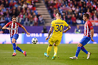 Atletico de Madrid's player Sime Vrsaljko and Saúl Ñígez and CF Rostov's player Fedor Kudryashov during a match of UEFA Champions League at Vicente Calderon Stadium in Madrid. November 01, Spain. 2016. (ALTERPHOTOS/BorjaB.Hojas)