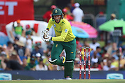 Rassie van der Dussen during the International T20 match between South Africa and England at Supersport Park, Centurion, South Africa on 16 February 2020.