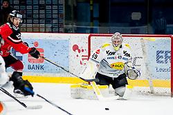 26.02.2016, Ice Rink, Znojmo, CZE, EBEL, HC Orli Znojmo vs Dornbirner Eishockey Club, Viertelfinale, 1. Spiel, im Bild v.l. Radek Cip (HC Orli Znojmo) Florian Hardy (Dornbirner) // during the Erste Bank Icehockey League 1st quarterfinal match between HC Orli Znojmo and Dornbirner Eishockey Club at the Ice Rink in Znojmo, Czech Republic on 2016/02/26. EXPA Pictures © 2016, PhotoCredit: EXPA/ Rostislav Pfeffer