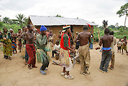 A village of Batwa (or Twa) tribe of pygmies in the Semliki Forest, western Uganda