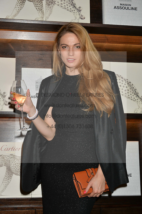 PAULINA CEBRZNSKA at a party to celebrate the publication of Cartier's Panthere book at Maison Assouline, Picadilly, London on 7th September 2015