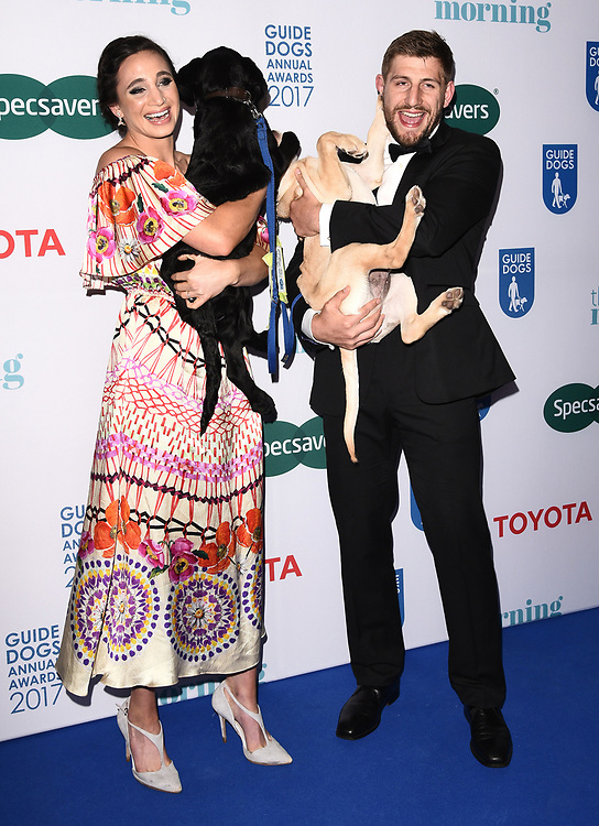 London, UK Laura Wright and Harry Rowland at The Guide Dog Of The Year Awards held at The Hurlingham Club, Ranelagh Gardens, London on Wednesday 17 May 2017 <br /> Ref: LMK392 -46019-251113<br /> Vivienne Vincent/Landmark Media. <br /> WWW.LMKMEDIA.COM.