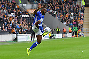 Birmingham City midfielder Jacques Maghoma (19)  during the EFL Sky Bet Championship match between Hull City and Birmingham City at the KCOM Stadium, Kingston upon Hull, England on 30 September 2017. Photo by Ian Lyall.