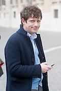 2013/03/19 Roma, parlamentari in Piazza Montecitorio. Nella foto Pippo Civati.<br /> Rome, parliamentarians in Montecitorio Square. In the picture Pippo Civati - &copy; PIERPAOLO SCAVUZZO