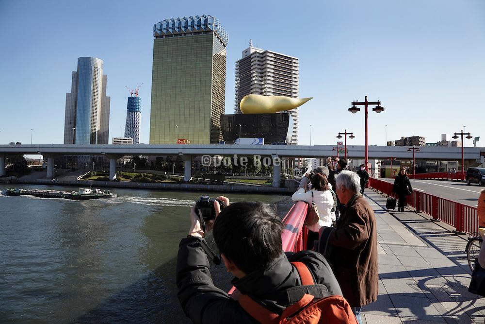 Tokyo Sky Tree Broadcasting Tower seen from the Azuma-Bashi bridge