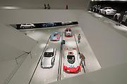 Classic Porsche racers at the Porsche Museum in Stuttgart, Germany.