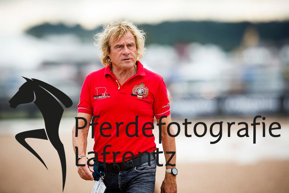 Janssens Sjef, NED<br /> Tryon - FEI World Equestrian Games™ 2018<br /> Backgroundbilder vom Abreiteplatz<br /> Grand Prix de Dressage Teamwertung und Einzelqualifikation<br /> 13. September 2018<br /> © www.sportfotos-lafrentz.de/Sharon Vandeput