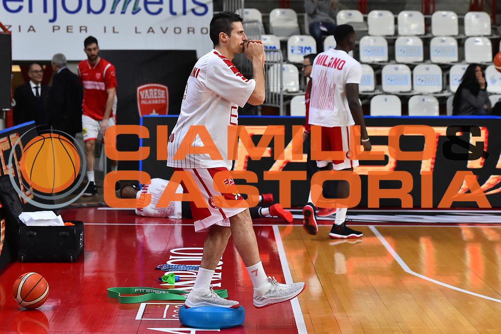 Cianciarini Andrea<br /> Openjobmetis Varese - EA7 Emporio Armani Milano<br /> Legabasket A 2017-2018<br /> Varese 28 /01/2018<br /> Foto Ciamillo-Castoria / GiulioCiamillo