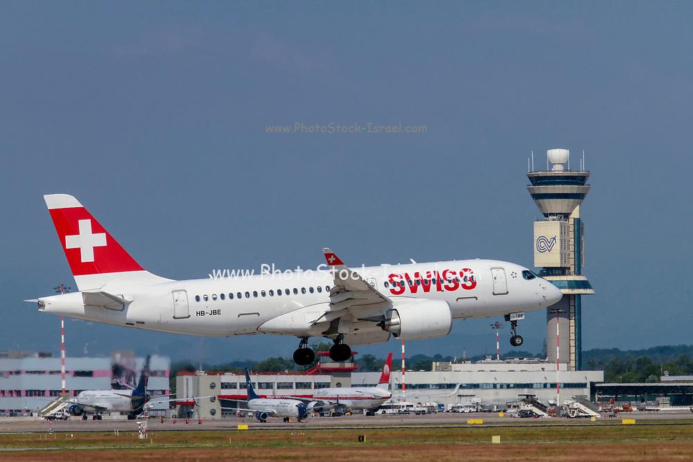 Swiss International Air Lines, Bombardier BD-500 CSeries CS100 at Malpensa (MXP / LIMC), Milan, Italy