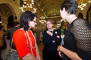 Vienna, Austria. Cocktail reception hosted by Mayor Michael Häupl at City Hall for international scientists and researchers living and working in Vienna.<br /> Prof. Mag. Dr. Susanne Weigelin-Schwiedrzik, Vice Rector University of Vienna (m.)