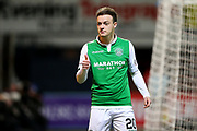 Brandon Barker (#20) of Hibernian gestures that he wants the ball during the Ladbrokes Scottish Premiership match between Dundee and Hibernian at Dens Park, Dundee, Scotland on 24 January 2018. Photo by Craig Doyle.