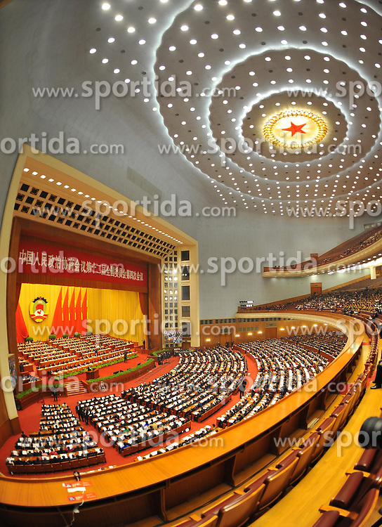The fourth session of the 12th National Committee of the Chinese People's Political Consultative Conference, China's top political advisory body, opens at the Great Hall of the People in Beijing, capital of China, March 3, 2016. EXPA Pictures © 2016, PhotoCredit: EXPA/ Photoshot/ Zhang Ling<br /><br />*****ATTENTION - for AUT, SLO, CRO, SRB, BIH, MAZ only*****