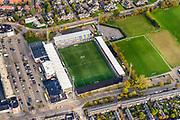 Nederland, Friesland, Leeuwarden, 04-11-2018; stadion Sportclub Cambuur (SC Cambuur)<br /> Cambuur stadium.<br /> luchtfoto (toeslag op standaard tarieven);<br /> aerial photo (additional fee required);<br /> copyright &copy; foto/photo Siebe Swart