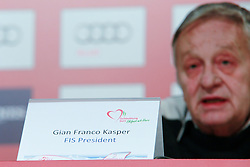 04.02.2013, Medienzentrum, Schladming, AUT, FIS Weltmeisterschaften Ski Alpin, Pressekonferenz FIS und OeSV, im Bild Gian-Franco Kasper, FIS-Praesident // Gian-Franco Kasper, President of FIS, at a press conference of the FIS and the OeSV during the FIS Ski World Championships 2013 at the Media Centre, Schladming, Austria on 2013/02/04. EXPA Pictures © 2013, PhotoCredit: EXPA/ Martin Huber