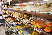 Variety of Indian sweets displayed at store