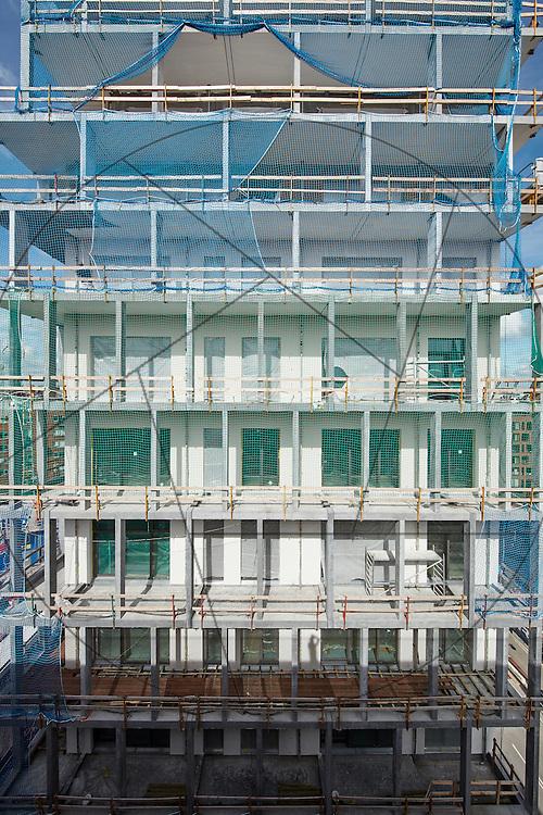 ombygning af kornsilo til lejligheder, Nordhavn, BOLL+ , eksteriør, facader, betonfacader