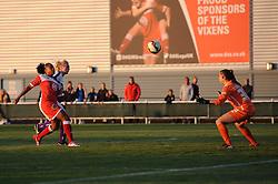 Jade Boho Sayo of Bristol Academy takes a shot at goal - Mandatory byline: Dougie Allward/JMP - 07966386802 - 27/08/2015 - FOOTBALL - Stoke Gifford Stadium -Bristol,England - Bristol Academy Women FC v Oxford United Women - FA WSL Continental Tyres Cup